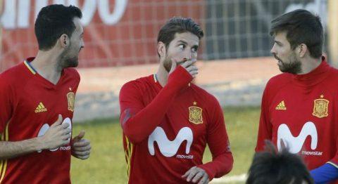 """Nóng: Ramos, Pique và Busquets """"dọa"""" bỏ tuyển Quốc gia vì """"nữ nhân"""""""