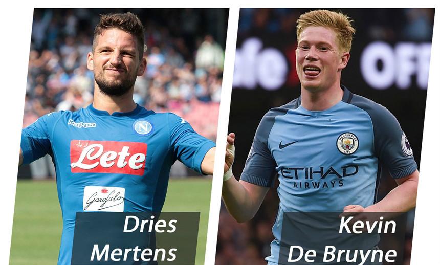 Kevin de Bruyne – Dries Mertens: Chờ cuộc đối đầu của 2 trọng pháo