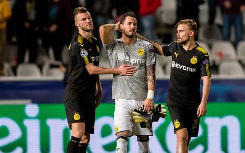 Hòa đội nhược tiểu, Dortmund sắp văng khỏi Champions League