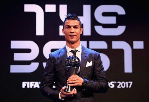 Nhận giải thưởng The Best, Ronaldo cảm ơn cả Messi, Neymar