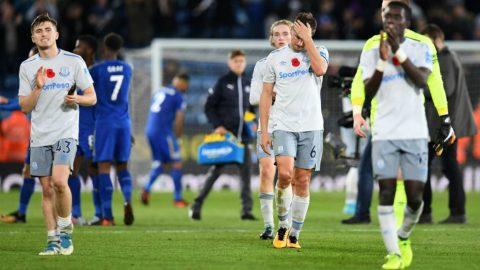 """Thất bại trước Leicester, Everton tiếp tục chìm sâu ở khu vực """"cầm đèn đỏ"""""""