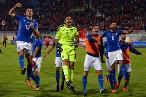 Candreva tỏa sáng, Italia thắng nhọc Albania ở lượt trận cuối