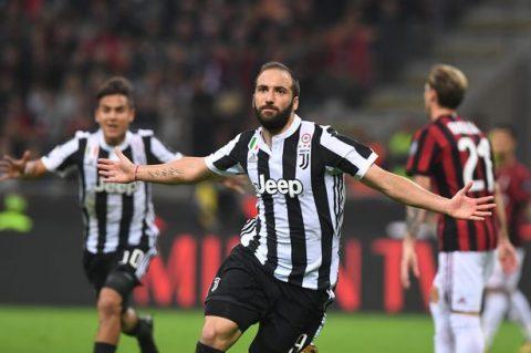 Higuain hạ sát Milan, Juventus tiếp tục bám đuổi ngôi đầu