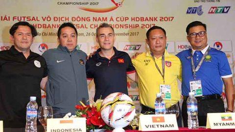 Khai mạc AFF HDBank Futsal Championship 2017: Kỳ vọng vào ĐT futsal Việt Nam