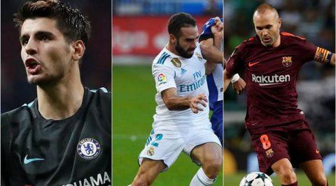 Carvajal, Morata và Iniesta rời ĐT Tây Ban Nha