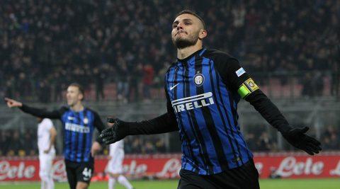 Icardi lập cú đúp bàn thắng, Inter vươn lên nhì bảng