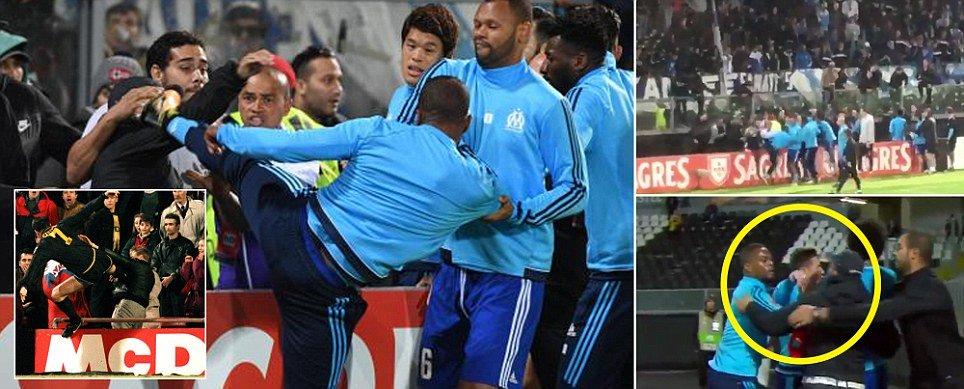 Evra tung cước vào CĐV, nhận thẻ đỏ khi trận đấu còn chưa bắt đầu