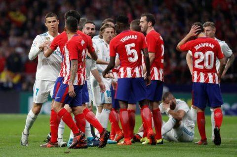 Ronaldo và Griezmann mờ nhạt, derby Madrid bất phân thắng bại