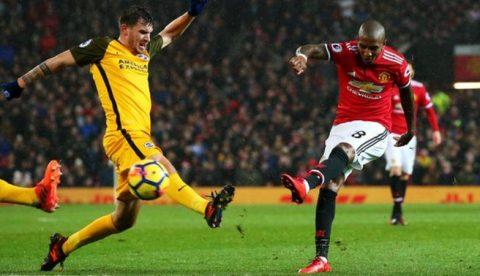 Ghi bàn nhờ chân đối thủ, MU nhọc nhằn đánh bại Brighton