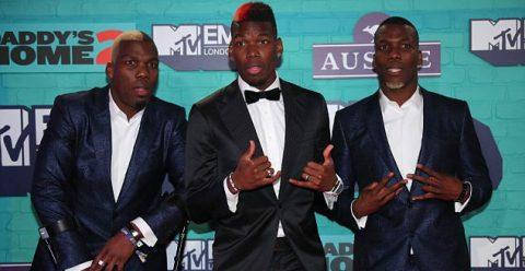 Ba anh em nhà Pogba quậy tưng bừng tại lễ trao giải MTV European Music Awards