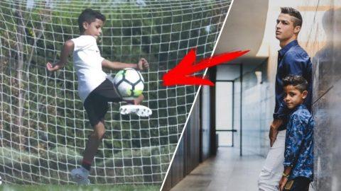 Quý tử nhà Ronaldo lại gây sốt từ sân đấu đến tạp chí