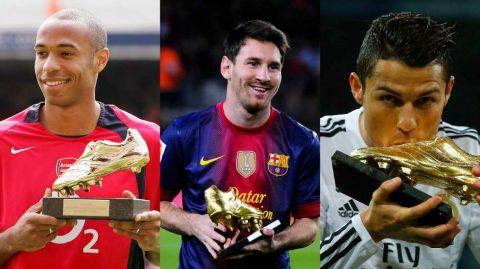 """10 """"Chiếc giày vàng"""" qua một thập kỷ thống trị của Ronaldo – Messi"""