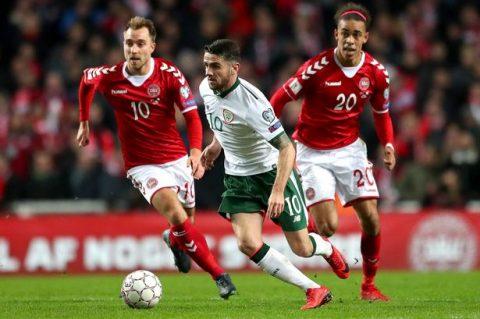 Bất lực trong việc ghi bàn, Đan Mạch gặp bất lợi trong trận lươt về trên đất Ireland