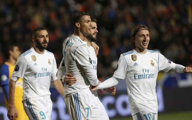 Ronaldo ghi bàn trở lại, Real đại thắng tại đảo Síp