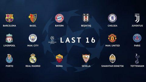 Những điều cần biết về Lễ bốc thăm vòng 16 đội Champions League
