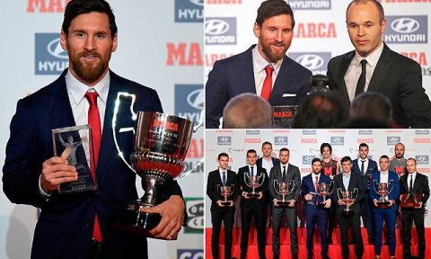 Messi nhận giải Pichichi và Cầu thủ xuất sắc nhất La Liga