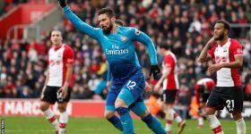 Giroud nổ súng, Arsenal thoát thua trước Southampton