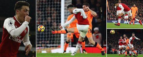 Rượt đuổi tỉ số ngoại mục, Arsenal và Liverpool chia điểm tại Emirates