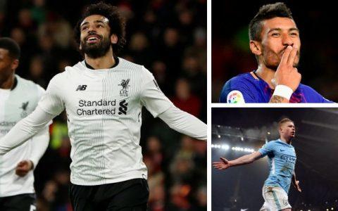 Từ Salah, De Bruyne đến Paulinho: Sự phán xét đầy ngu ngốc của xứ Sương mù
