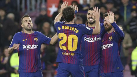 Suarez và Paulinho lập công, Barca thắng tưng bừng trên sân nhà