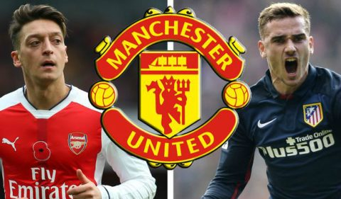 Điểm tin sáng 16/12: Mourinho mua của Ozil và Griezmann; Liverpool chọn người thay Coutinho