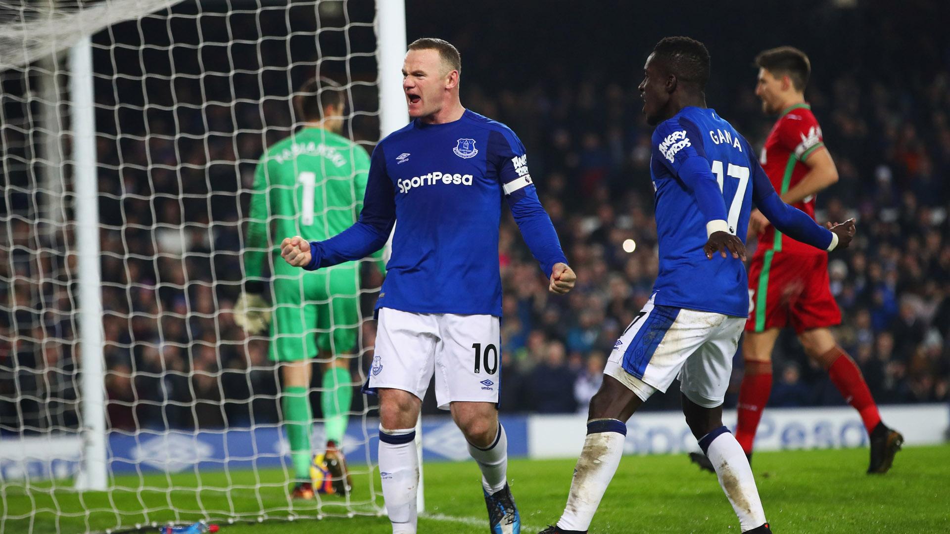 Rooney tiếp tục chói sáng, Everton vùi dập Swansea tại Goodison Park