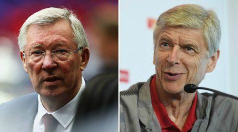 """""""Giáo sư"""" Wenger và Sir Alex: So sánh hơn kém sẽ là bất công"""