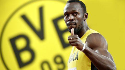 'Tia chớp đen' Usain Bolt thử việc tại Dortmund