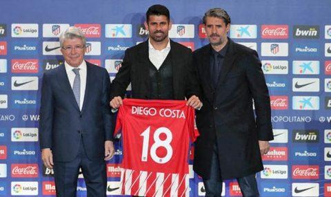 """Atletico Madrid CHÍNH THỨC """"trình làng"""" Diego Costa"""