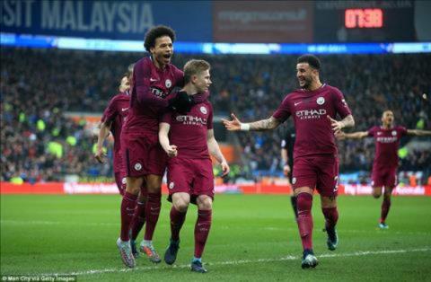 Đánh bại Cardiff City, The Citizens đặt vé vào vòng 5 FA Cup