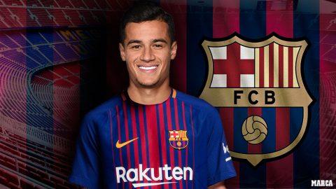 Coutinho gia nhập TOP 5 bản hợp đồng kỷ lục thế giới
