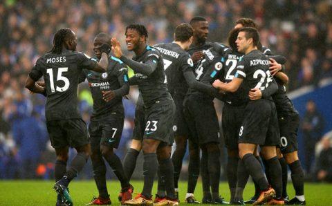 Đè bẹp Brighton, Chelsea có chiến thắng đầu tiên trong năm 2018