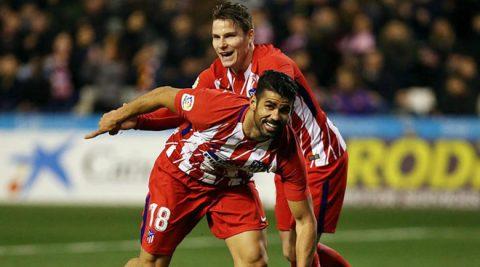 Diego Costa khai hỏa, Atletico thắng tưng bừng đội hạng Ba