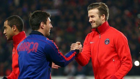 """Messi """"thả thính"""" Beckham, gợi ý sang Mỹ đá bóng"""