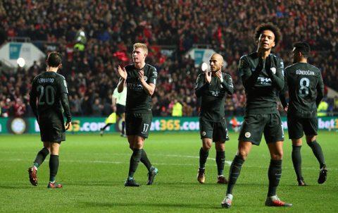 """Rượt đuổi tỷ số, Man City toát """"mồ hôi hột"""" vào chung kết Cúp Liên đoàn"""