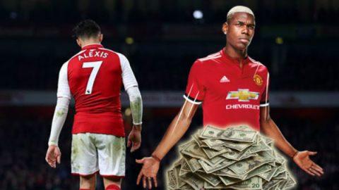 Chuyển nhượng 21/01: Pogba tị nạnh với Sanchez; Bayern sẵn sàng bán Vidal