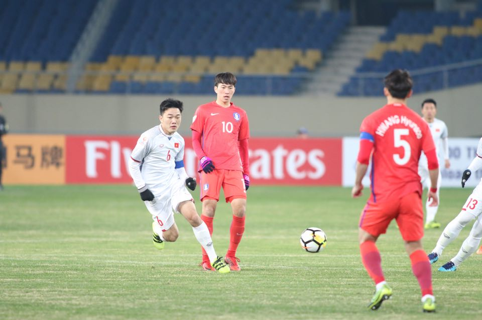 Nỗ lực đáng khen ngợi, U23 Việt Nam thất thủ tối thiểu trước người Hàn