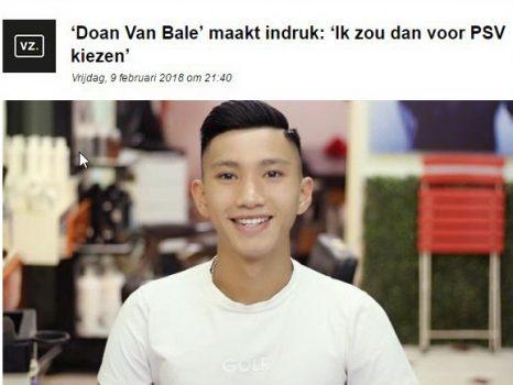 Trang báo Hà Lan hết lời khen ngợi Đoàn Văn Hậu