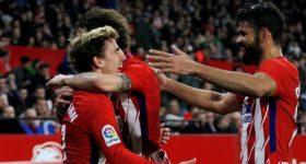 Griezmann lập hat-trick, Atletico đại thắng Sevilla