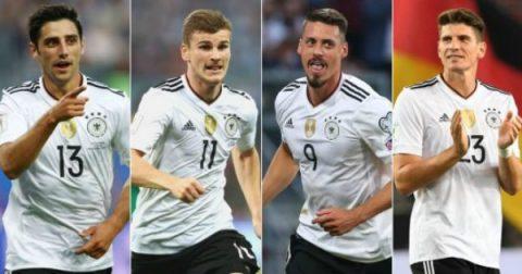 4 tiền đạo khiến Joachim Low 'đau đầu' lựa chọn cho World Cup 2018