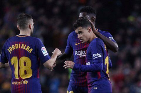 Coutinho ghi bàn đầu tiên, Barca dễ dàng nghiền nát Girona