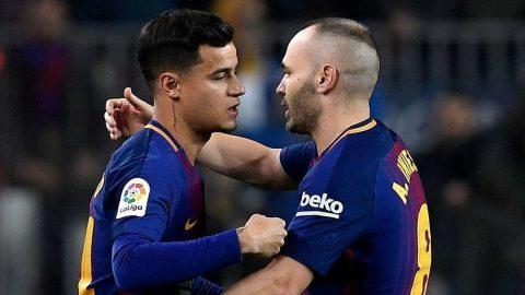 Barca và Iniesta đang 'hưởng lợi' với sự có mặt của Coutinho