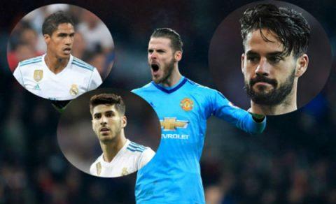 Muốn có De Gea, Real phải dùng cả Isco, Asensio và Varane để đổi?