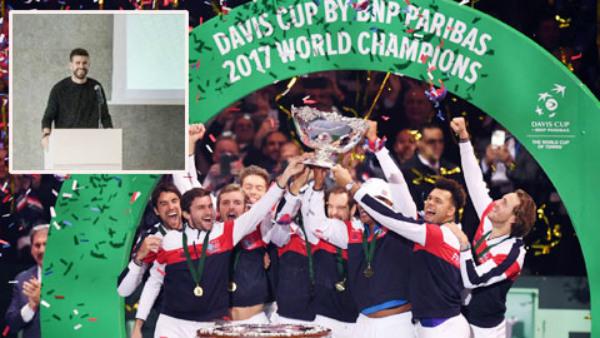 """Pique đề xuất biến Davis Cup thành """"World Cup quần vợt"""""""