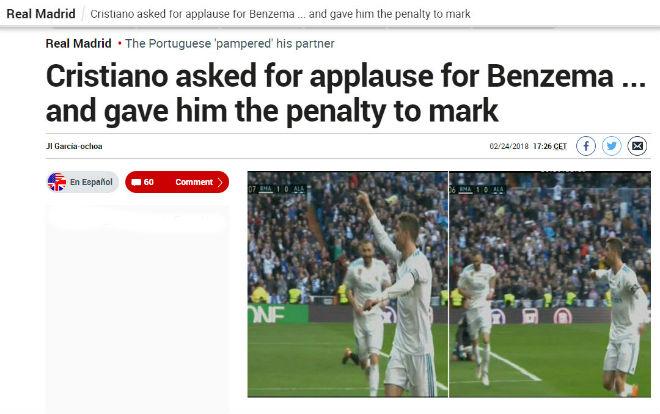 Nhường pen cho Benzema, Ronaldo làm truyền thông châu Âu phát sốt