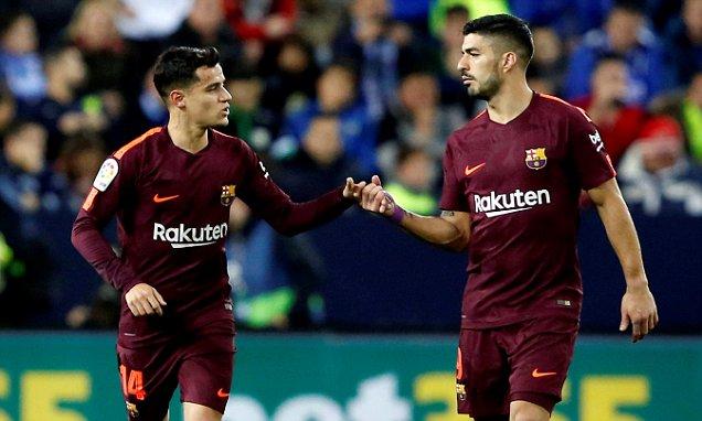 """Coutinho và Suarez lập công, Barca """"tặng quà ý nghĩa cho Messi"""