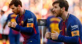 """Messi có màn ăn mừng """"lạ đời"""" và khó hiểu chưa từng thấy"""