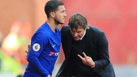 Hết Courtois, đến lượt Hazard bật lại Conte