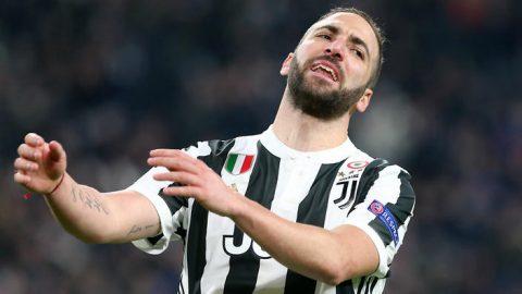 Higuain chấn thương vô thời hạn, Juventus gặp hạn khi đến Anh