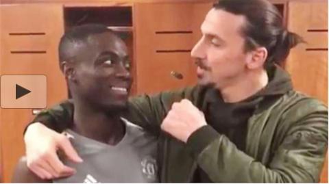 Ibrahimovic chào tạm biệt đồng đội MU, Bailly suýt ăn no đòn